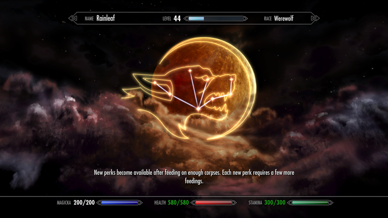 Werewolf Mastered Achievement in The Elder Scrolls V: Skyrim