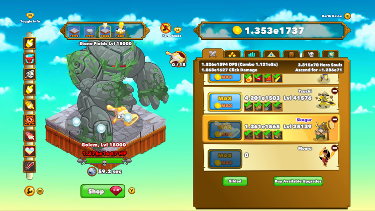 Clicker Heroes Screenshot 4
